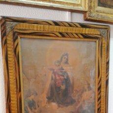 Arte: MUY ANTIGUA LITOGRAFIA DE LA VIRGEN DEL CARMEN. Lote 57655263