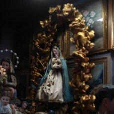 Arte: GRAN TRONO PEANA MANDORLA CON NUBES PARA TALLA 2M10CM. Lote 57687431