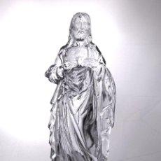 Arte: SAGRADO CORAZÓN DE JESÚS. CRISTAL MOLDEADO. FRANCIA (?). XIX-XX.. Lote 57730397