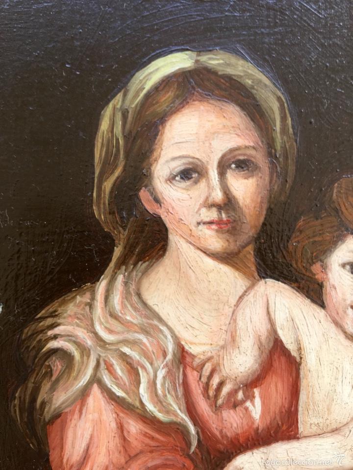 Arte: Alfredo enguix padre oleo virgen con niño 1967 enmarcado - Foto 3 - 57740787