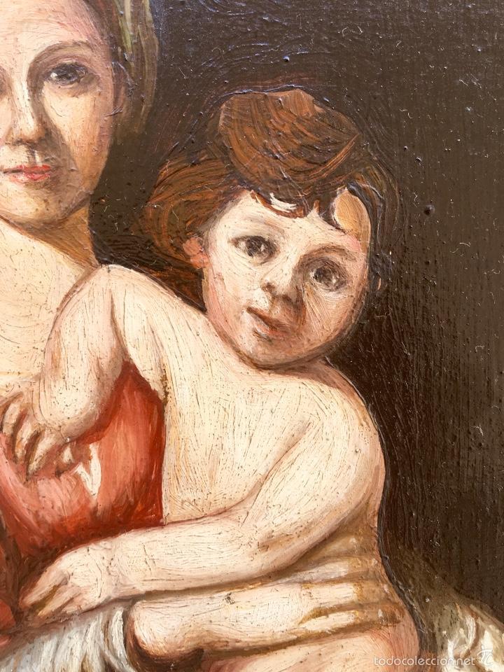 Arte: Alfredo enguix padre oleo virgen con niño 1967 enmarcado - Foto 4 - 57740787