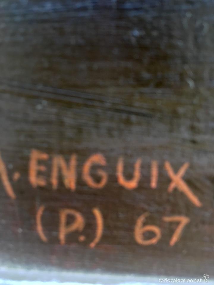 Arte: Alfredo enguix padre oleo virgen con niño 1967 enmarcado - Foto 6 - 57740787