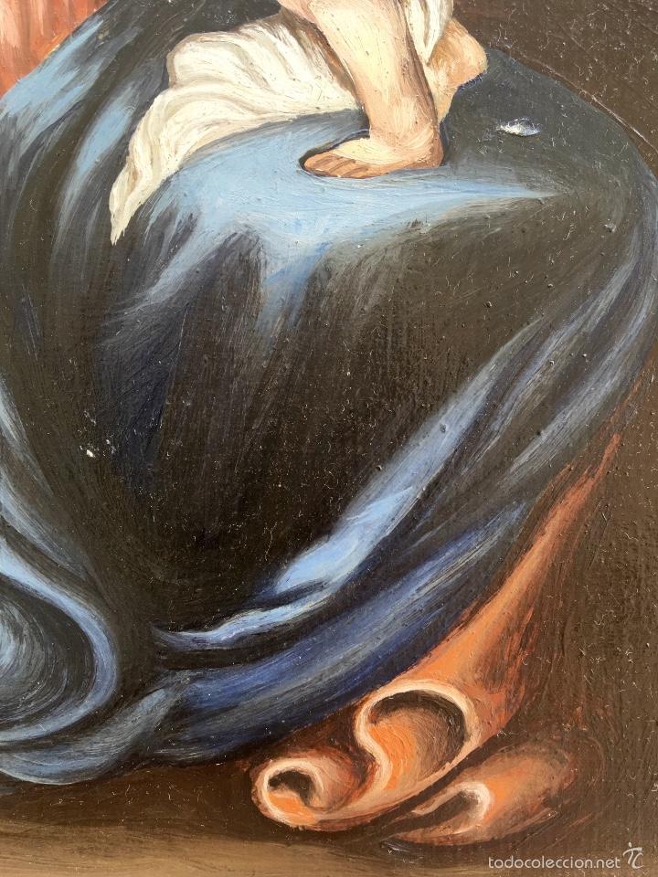 Arte: Alfredo enguix padre oleo virgen con niño 1967 enmarcado - Foto 7 - 57740787