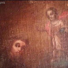 Arte: MAGNIFICO OLEO SAN ANTONIO ESCUELA ESPAÑOLA S.XVIII. Lote 57749336