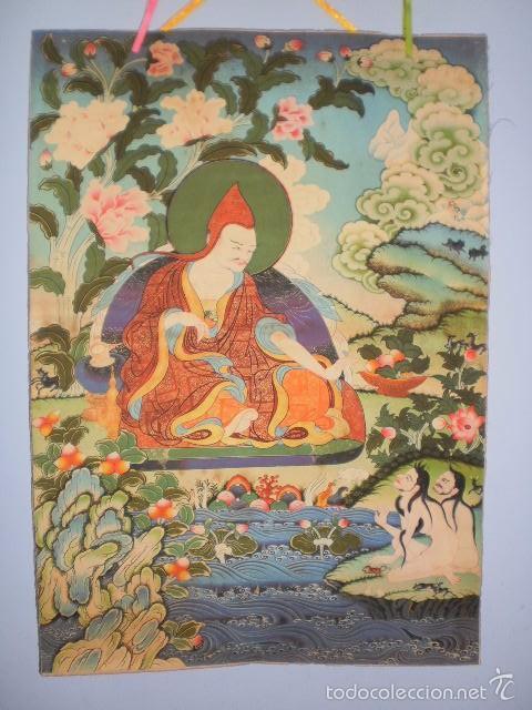 INMENSO THANGKA THANKA TANKA BUDISMO EN PERGAMINO (DING GUANPENG, 90 CM X 63 CM APROX) (Arte - Arte Religioso - Pintura Religiosa - Otros)