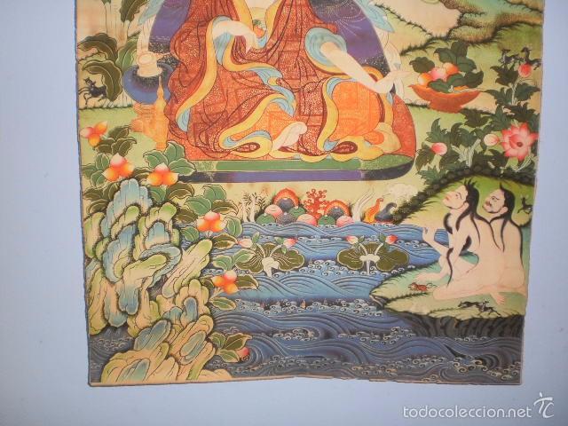 Arte: INMENSO Thangka Thanka Tanka Budismo en pergamino (Ding Guanpeng, 90 cm x 63 cm aprox) - Foto 3 - 57756699