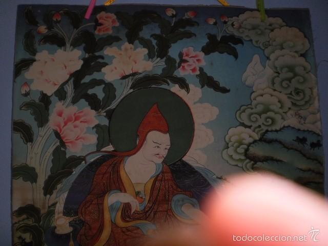 Arte: INMENSO Thangka Thanka Tanka Budismo en pergamino (Ding Guanpeng, 90 cm x 63 cm aprox) - Foto 4 - 57756699