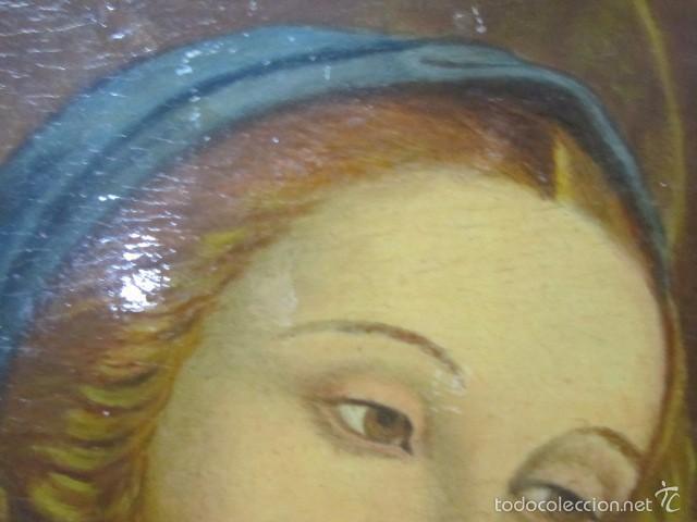 Arte: Óleo sobre contrachapado. Vírgen. 19 x 25 cms. - Foto 4 - 57829481