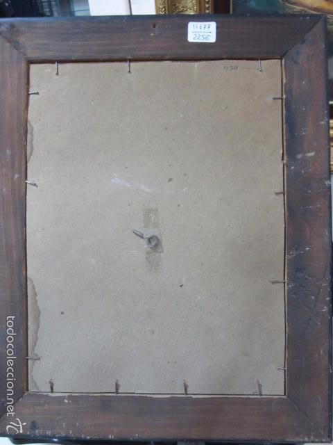 Arte: Óleo sobre contrachapado. Vírgen. 19 x 25 cms. - Foto 7 - 57829481