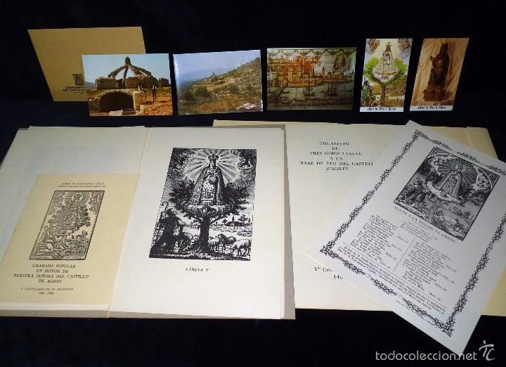 MAGNÍFICO LOTE DE LA MARE DE DÉU DEL CASTELL D'AGRES. CARPETA GRABADOS, POSTALES, GOZOS, ESTAMPAS (Arte - Arte Religioso - Grabados)