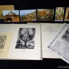 Arte: MAGNÍFICO LOTE DE LA MARE DE DÉU DEL CASTELL D'AGRES. CARPETA GRABADOS, POSTALES, GOZOS, ESTAMPAS. Lote 57848439