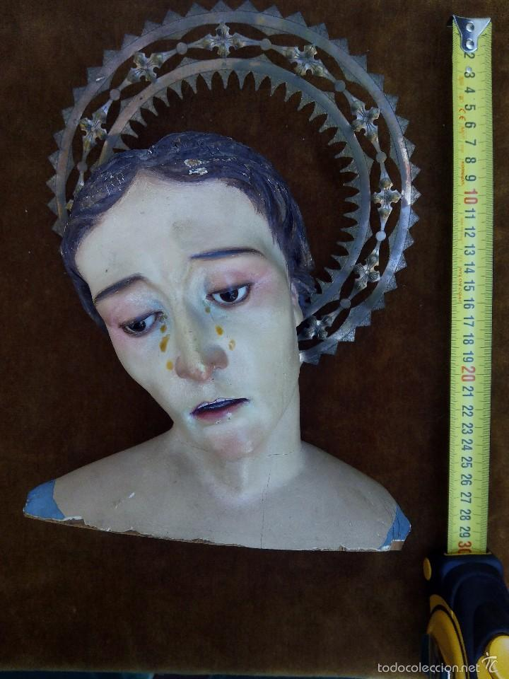 BUSTO CAP Y POTA DE LA DOLOROSA (Arte - Arte Religioso - Escultura)