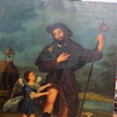 Arte: PINTURA SIGLO XVIII-XIX? -SAN ROQUE -102X 83CM. Lote 57968599