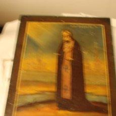 Arte: OLEO SOBRE TABLA - SANTO CON RIO VOLGA Y SANPETESBURGO AL FONDO MIDE 22 X 18 CMS. Lote 58079390