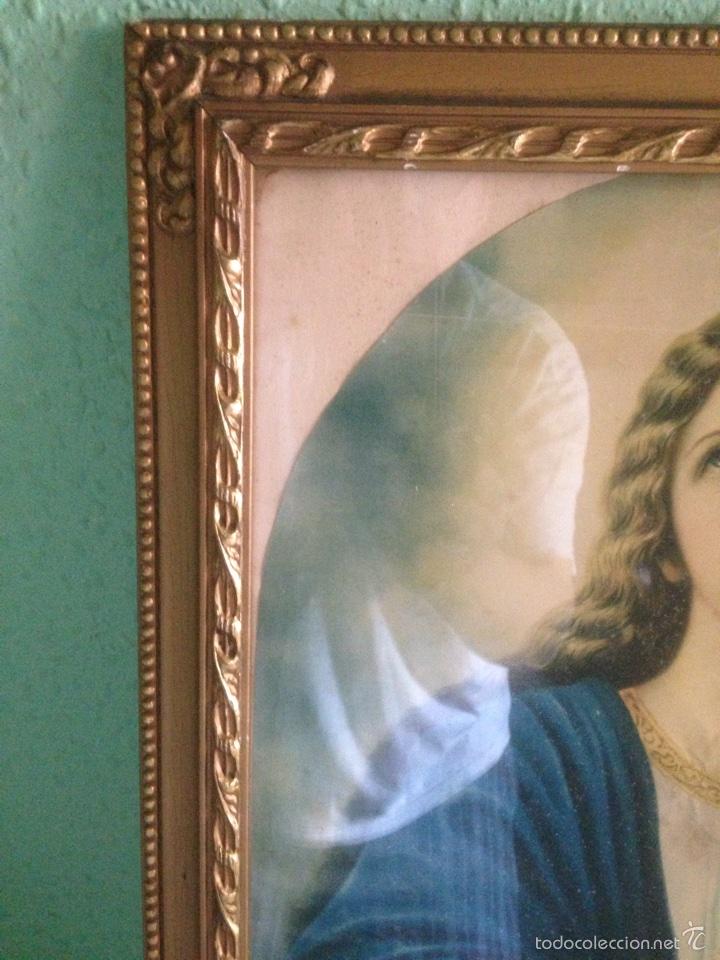 Arte: Cuadro Virgen orando, años 40 - Foto 4 - 58090978