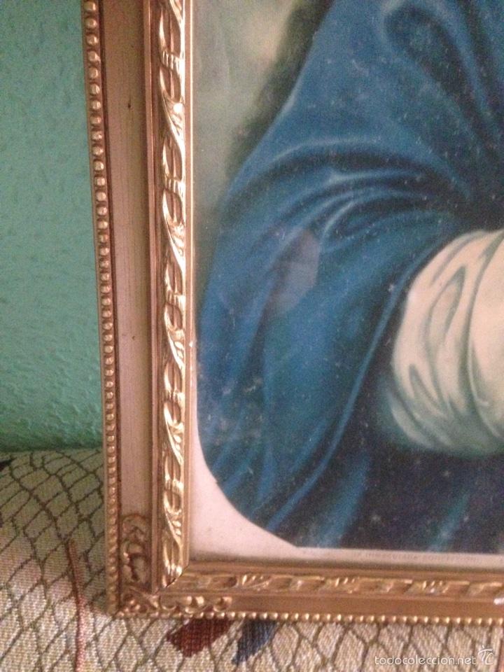 Arte: Cuadro Virgen orando, años 40 - Foto 5 - 58090978