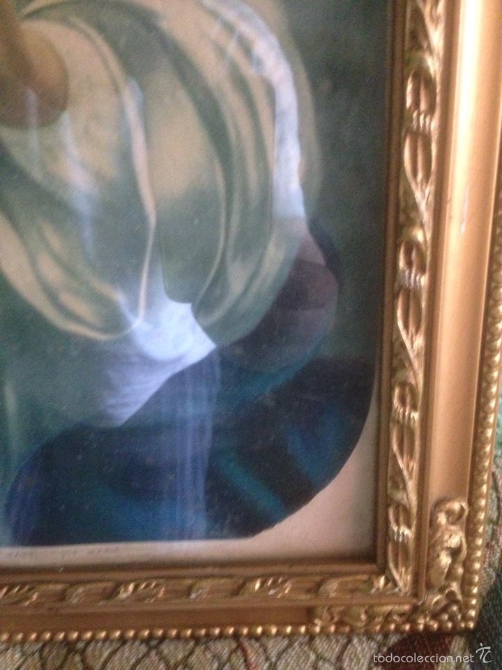 Arte: Cuadro Virgen orando, años 40 - Foto 6 - 58090978