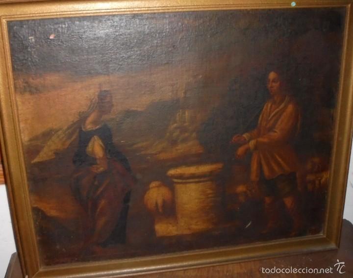 CUADRO AL OLEO DEL SXVII (Arte - Arte Religioso - Pintura Religiosa - Oleo)