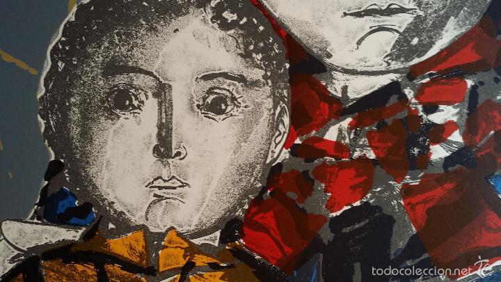 Arte: Max HUNZIKER: Virgen con niño / aguafuerte numerado y firmado a lápiz / 1958 - Foto 4 - 58107779