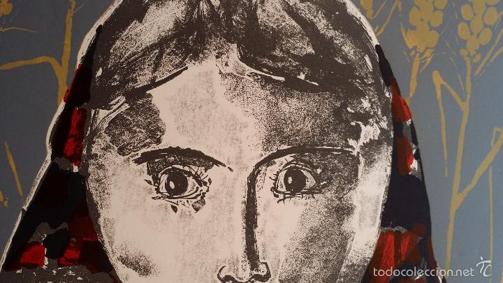 Arte: Max HUNZIKER: Virgen con niño / aguafuerte numerado y firmado a lápiz / 1958 - Foto 5 - 58107779