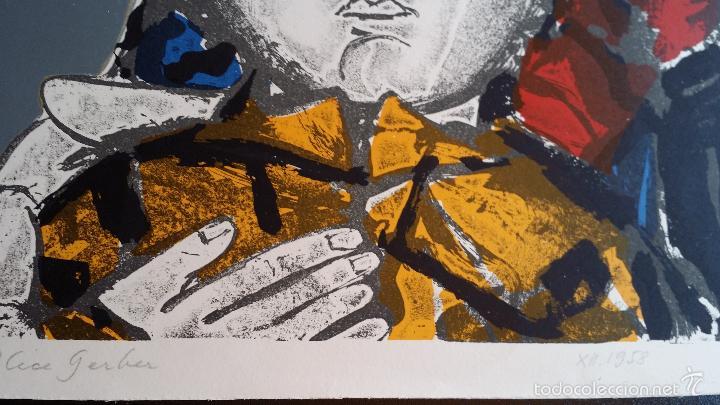Arte: Max HUNZIKER: Virgen con niño / aguafuerte numerado y firmado a lápiz / 1958 - Foto 7 - 58107779
