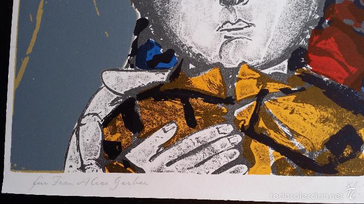 Arte: Max HUNZIKER: Virgen con niño / aguafuerte numerado y firmado a lápiz / 1958 - Foto 8 - 58107779