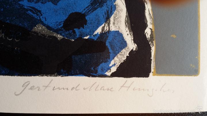Arte: Max HUNZIKER: Virgen con niño / aguafuerte numerado y firmado a lápiz / 1958 - Foto 10 - 58107779