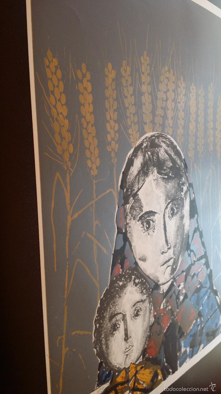 Arte: Max HUNZIKER: Virgen con niño / aguafuerte numerado y firmado a lápiz / 1958 - Foto 11 - 58107779