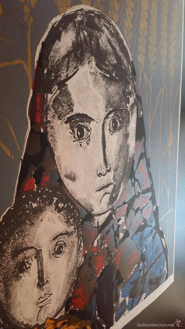 Arte: Max HUNZIKER: Virgen con niño / aguafuerte numerado y firmado a lápiz / 1958 - Foto 12 - 58107779