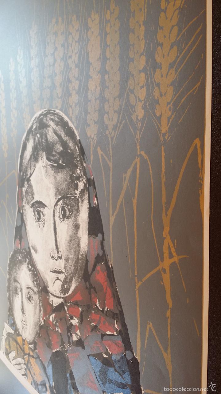 Arte: Max HUNZIKER: Virgen con niño / aguafuerte numerado y firmado a lápiz / 1958 - Foto 13 - 58107779