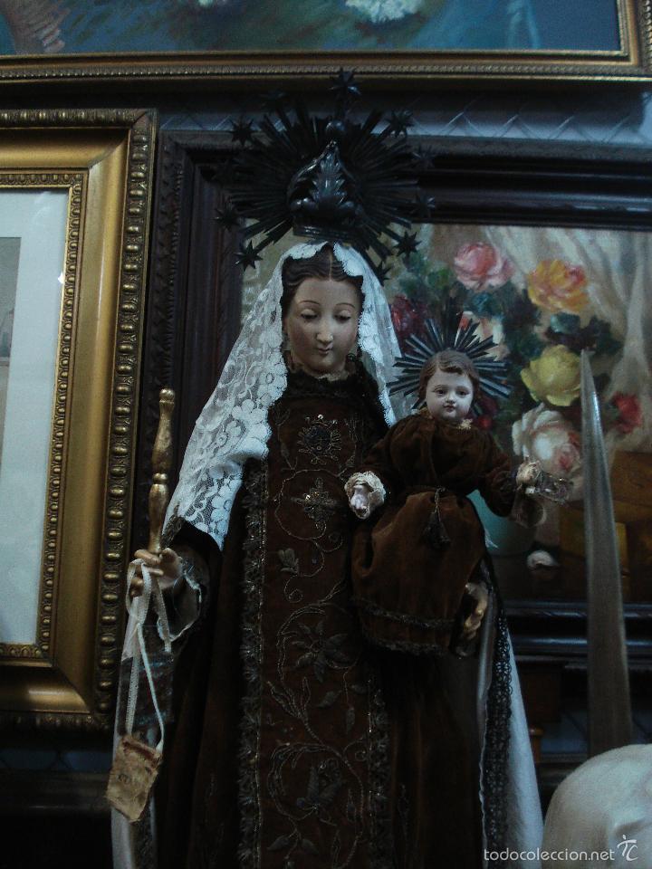 Arte: Virgen del Carmen cap i pota sXIX talla vestidera de madera - Foto 6 - 56523162