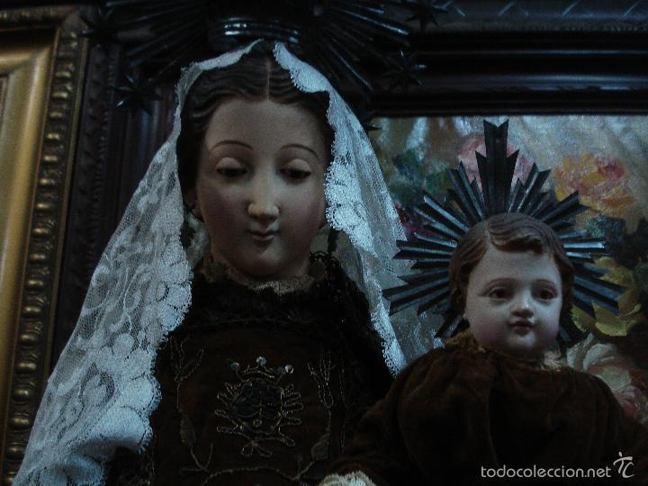 Arte: Virgen del Carmen cap i pota sXIX talla vestidera de madera - Foto 7 - 56523162