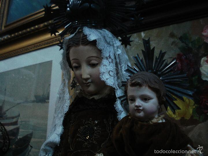 Arte: Virgen del Carmen cap i pota sXIX talla vestidera de madera - Foto 9 - 56523162