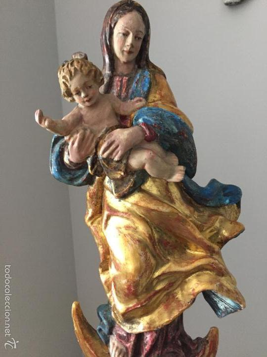 VIRGEN TALLA DE MADERA (Arte - Arte Religioso - Escultura)