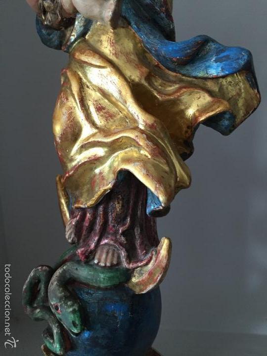 Arte: VIRGEN talla de madera - Foto 3 - 58129932