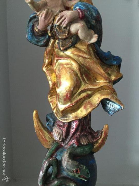 Arte: VIRGEN talla de madera - Foto 8 - 58129932