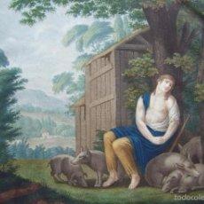 Arte: S. XVIII * LA MISERIA GRABADO PUNTEADO POR AUGUSTIN LEGRAND & DUTHE * PARABOLA HIJO PRODIGO 48 CM. Lote 58133289
