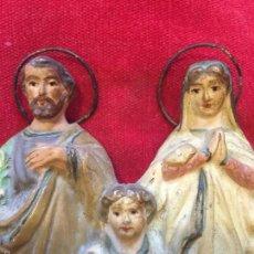 Arte: SAGRADA FAMILIA, TERRACOTA POLIXROMADA. Lote 58135487