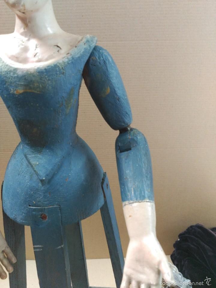 Arte: Virgen Dolorosa, vestidera talla en madera, siglo XIX, con ropa de la epoca - Foto 8 - 58203081