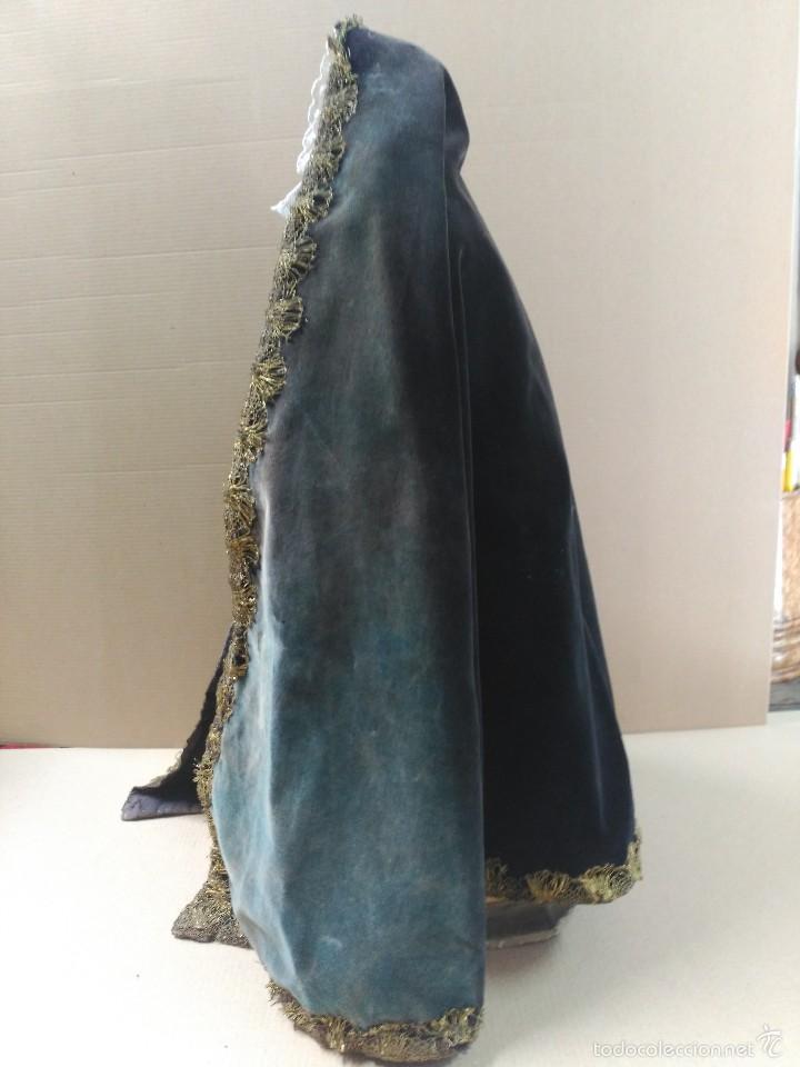 Arte: Virgen Dolorosa, vestidera talla en madera, siglo XIX, con ropa de la epoca - Foto 17 - 58203081
