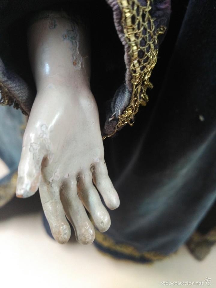 Arte: Virgen Dolorosa, vestidera talla en madera, siglo XIX, con ropa de la epoca - Foto 20 - 58203081