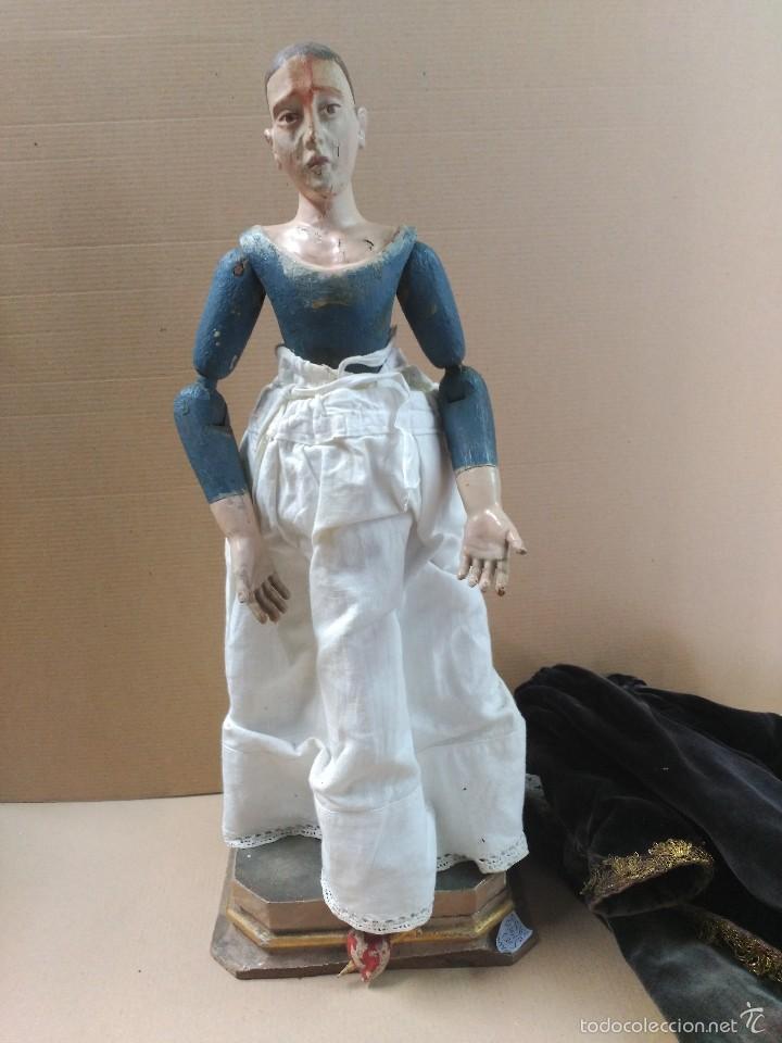 Arte: Virgen Dolorosa, vestidera talla en madera, siglo XIX, con ropa de la epoca - Foto 22 - 58203081