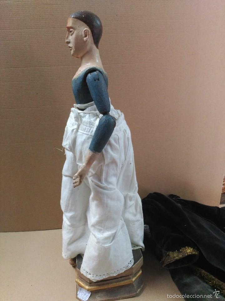 Arte: Virgen Dolorosa, vestidera talla en madera, siglo XIX, con ropa de la epoca - Foto 25 - 58203081