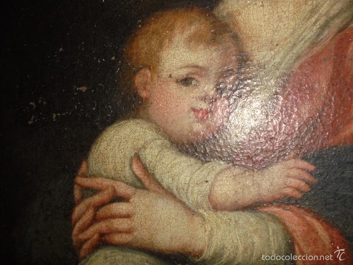 Arte: La Virgen y el niño.SXVII. - Foto 5 - 58211207