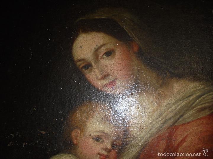 Arte: La Virgen y el niño.SXVII. - Foto 6 - 58211207