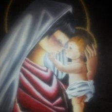 Arte: OLEO DE VIRJEN CON NIÑO . MIDE 43,5 X 36,5 CM - FIRMADO BARINGO. Lote 58216035