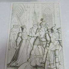 Arte: ANTIGUO GRABADO. 1822. PERFECTO ESTADO. GRABADO DE ROSMUNDA. 10.5 X 17CM. Lote 58255314