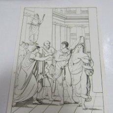 Arte: ANTIGUO GRABADO. 1822. PERFECTO ESTADO. GRABADO DE ALCESTE. 10.5 X 17CM. Lote 58255326