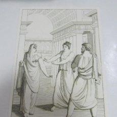 Arte: ANTIGUO GRABADO. 1822. PERFECTO ESTADO. GRABADO DE AGAMENNONE. 10.5 X 17CM. Lote 58255329