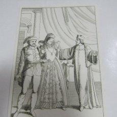 Arte: ANTIGUO GRABADO. 1822. PERFECTO ESTADO. GRABADO DE MARIA STUARDA. 10.5 X 17CM. Lote 58255338